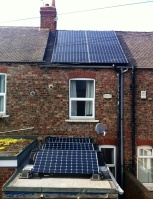 Full array - extension and main roof